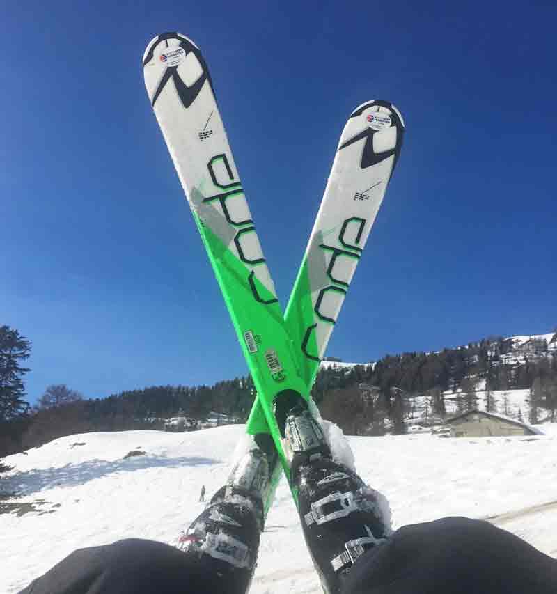 Skifahren lernen in drei Tagen im skigebiet Crans Montana