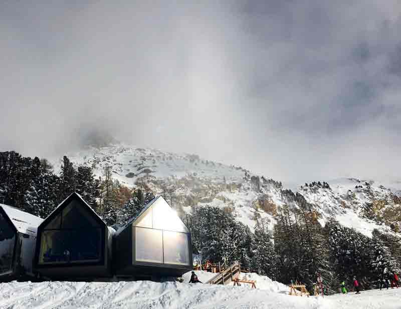 Oberholz Hütte Skigebiet Obereggen in Südtirol