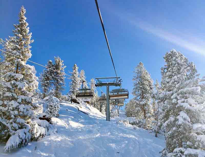 skilift Skigebiet Obereggen in Südtirol