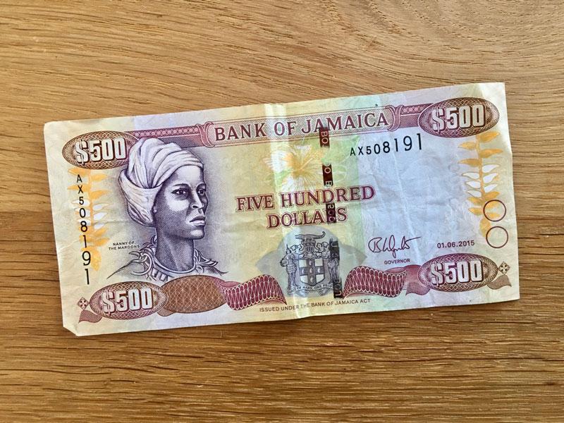 Geldschein 500 Jamaika Dollars