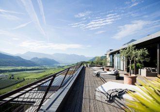Designhotel in Kaltern mit traumhafter Dachterrasse
