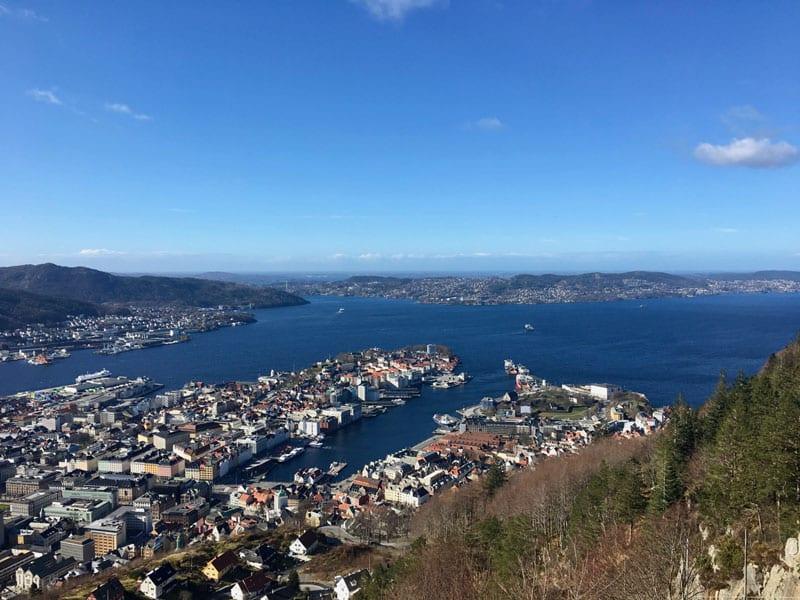 Aussicht vom Floyen Bergen