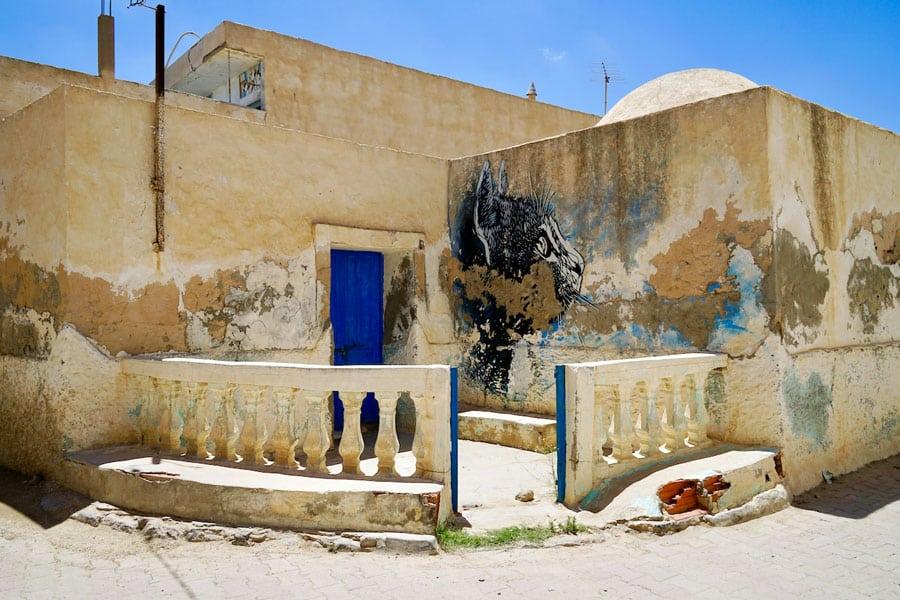 C215 Street Artist Djerbahood Erriadh Djerba Tunesien