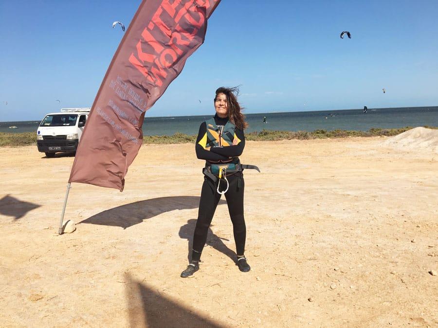 Kiten auf Djerba mein Outfit