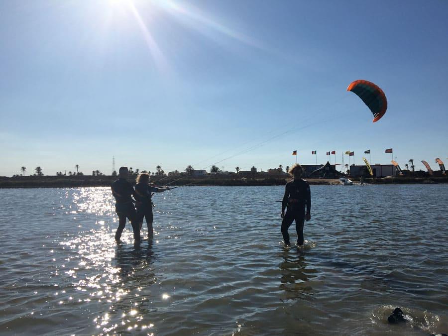 Stehrevier Kite-Spot von KiteWorldWide auf Djerba