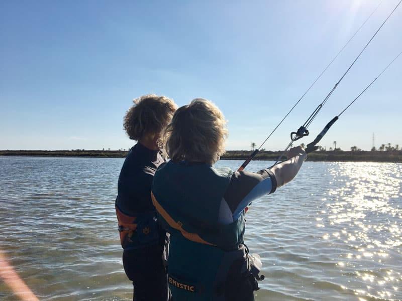 Kiten für Anfänger Kite-Spot von KiteWorldWide auf Djerba