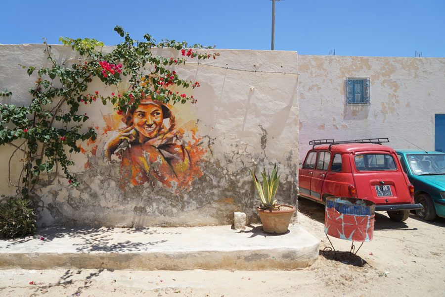 Street Artist Djerbahood Erriadh Djerba Tunesien