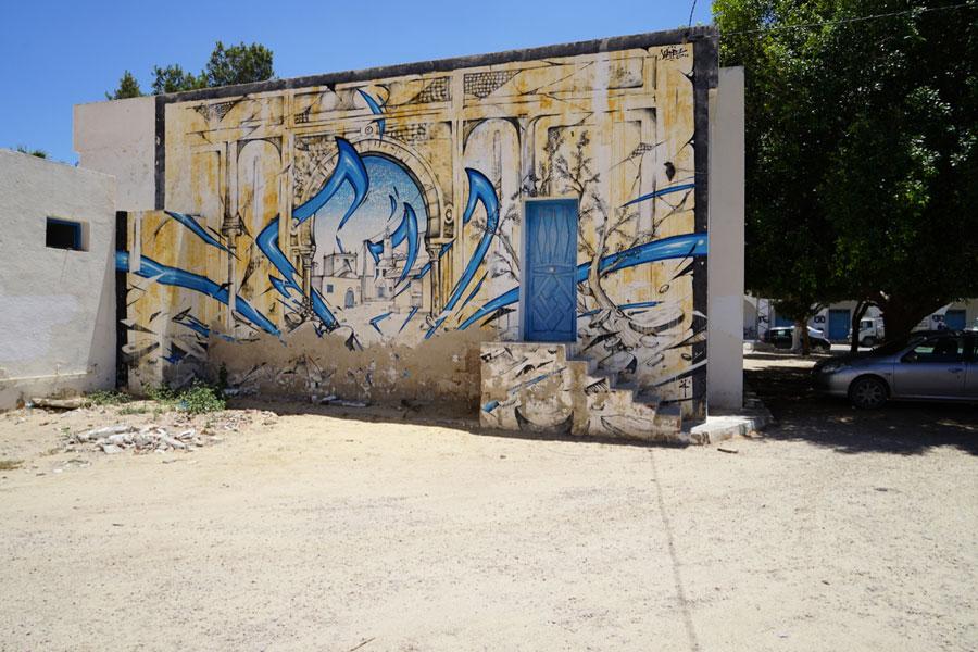 Street Art Djerbahood in Erriadh Djerba Tunesien