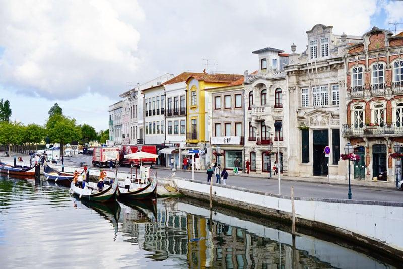Kanal in Aveiro das Venedig Portugals