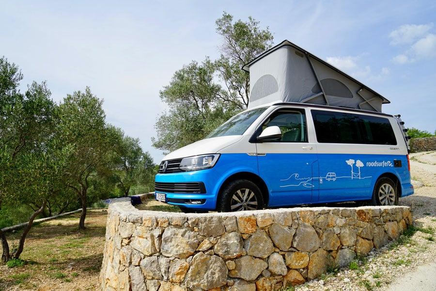 Roadtrip Kroatien auf dem Campingplatz auf Krk