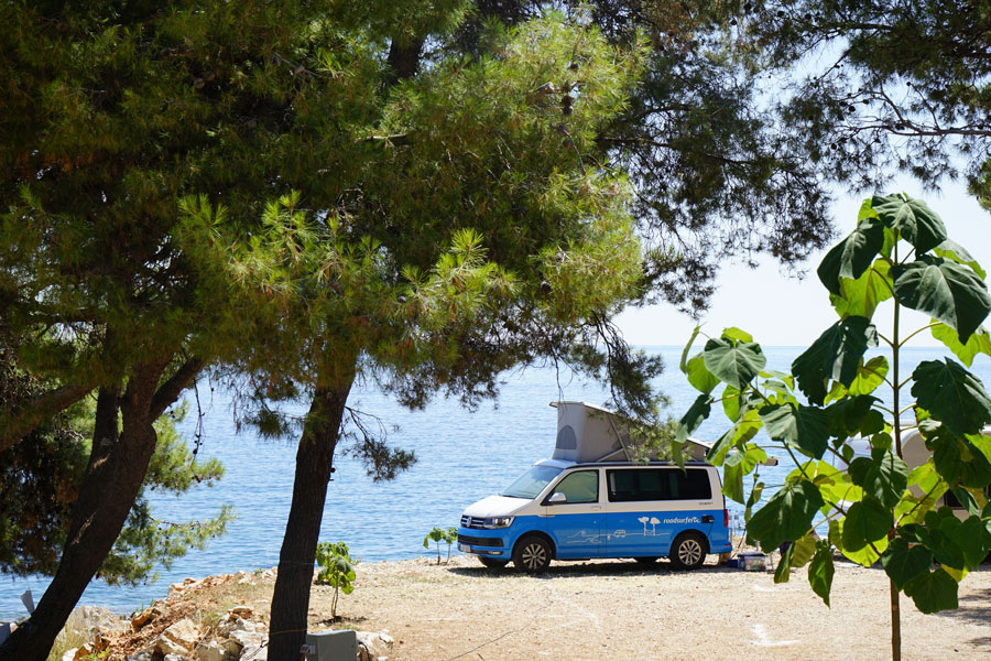 Roadtrip Kroatien Camp Mala Milna.