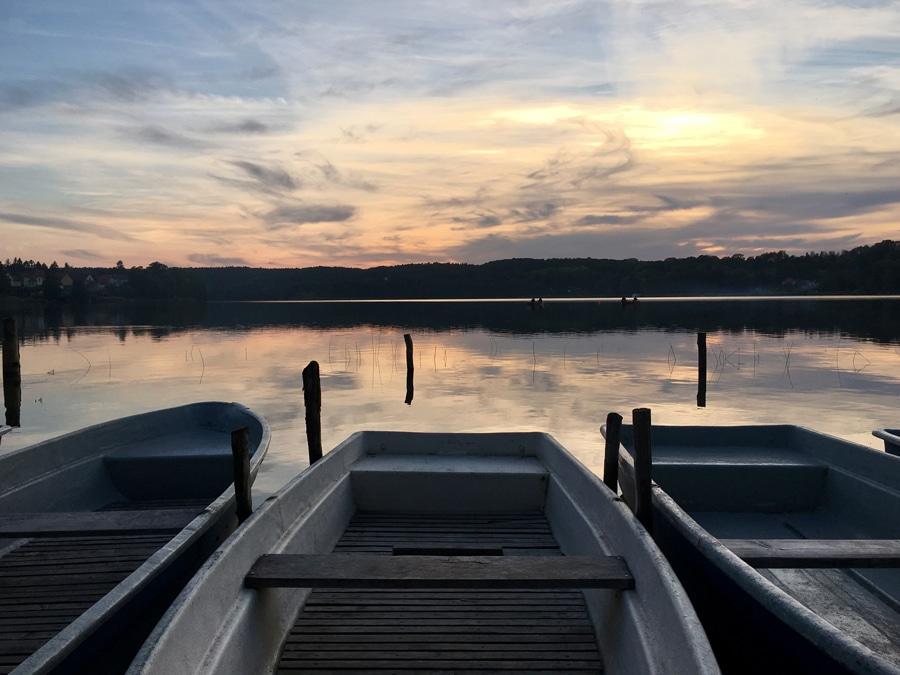 Sonnenuntergang Billies Bootsteg Buckow